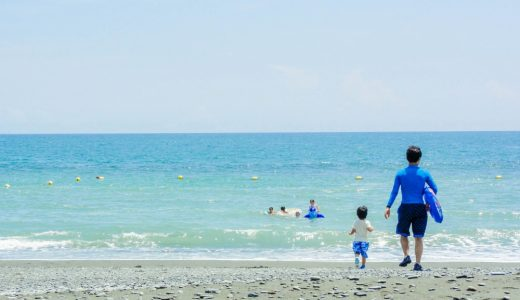 湘南地域の超穴場海水浴スポット「小田原 御幸の浜」空いてて最高!