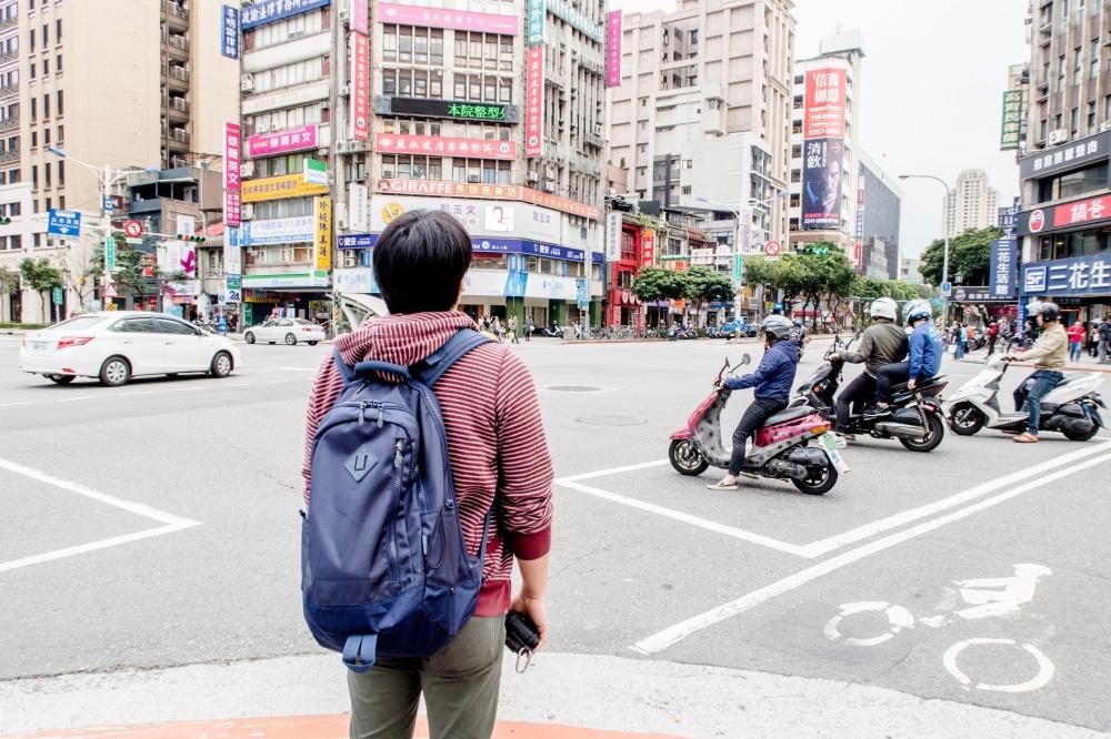 台北とコールマンのリュック