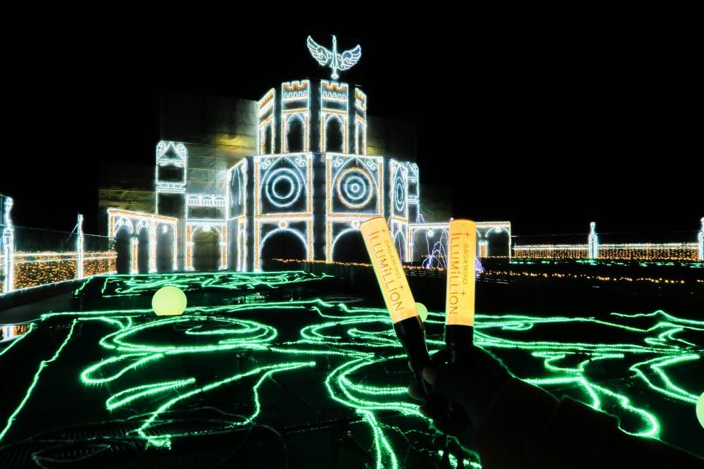 さがみ湖イルミリオン - 光の大宮殿とペンライト