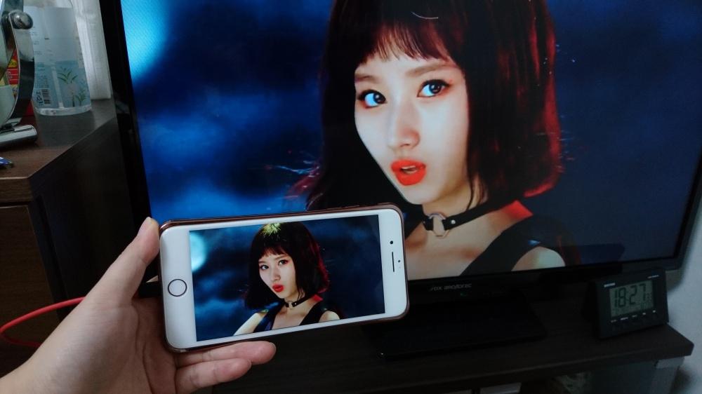 iPhoneをテレビへミラーリング表示 / YouTube再生 / Twice ②