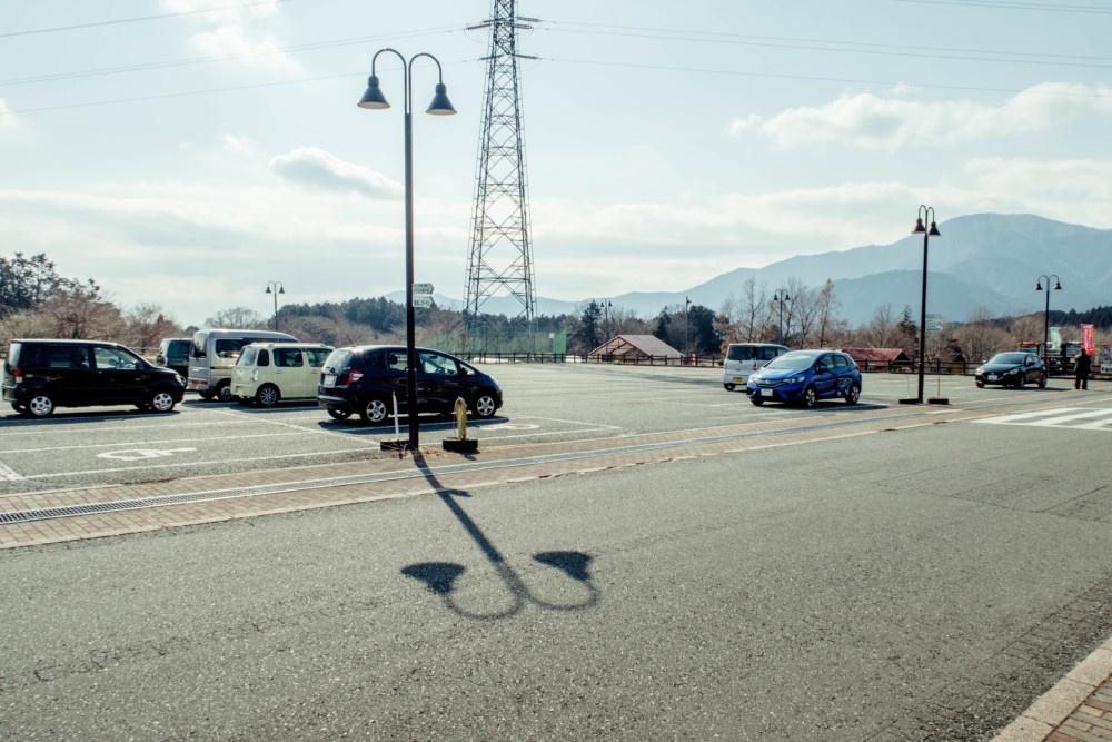 富士ミルクランドの駐車場