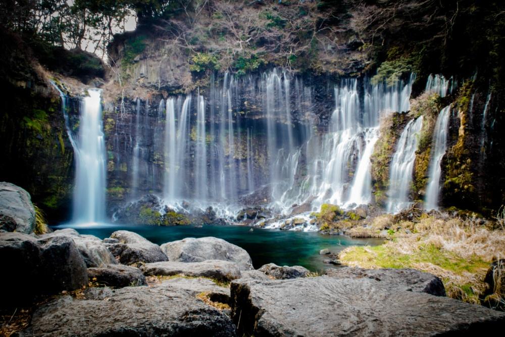 静岡「白糸の滝」ひじょうに美しい