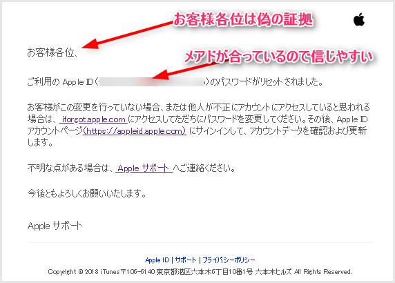Apple メールが本物か偽物かを見分ける方法