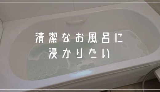 お風呂の季節がやってくる!今のうちにバスタブ清掃をして清潔なお風呂に浸かろうぜっ!!