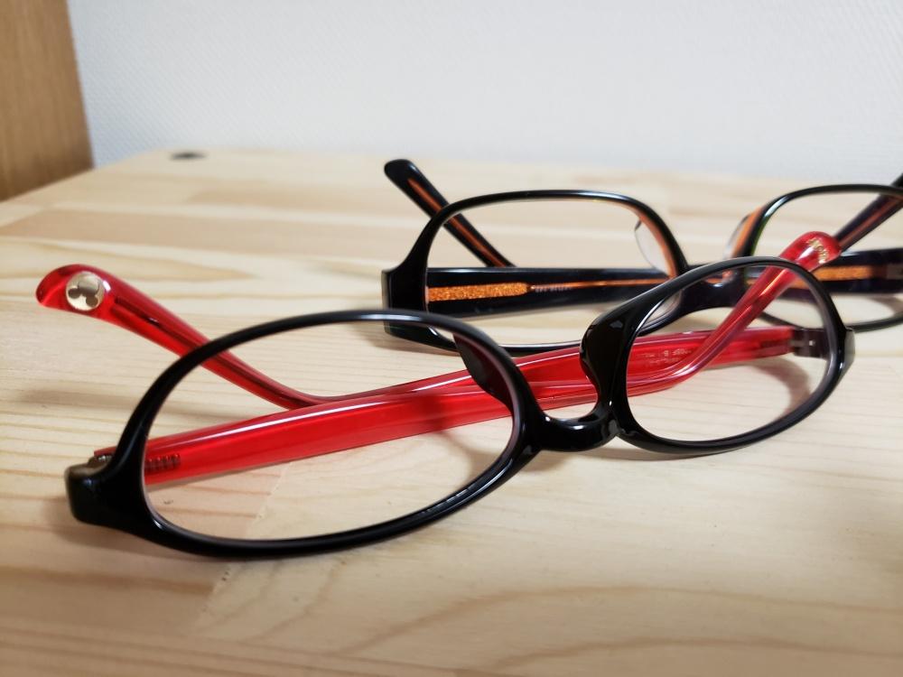 暗い眼鏡の写真