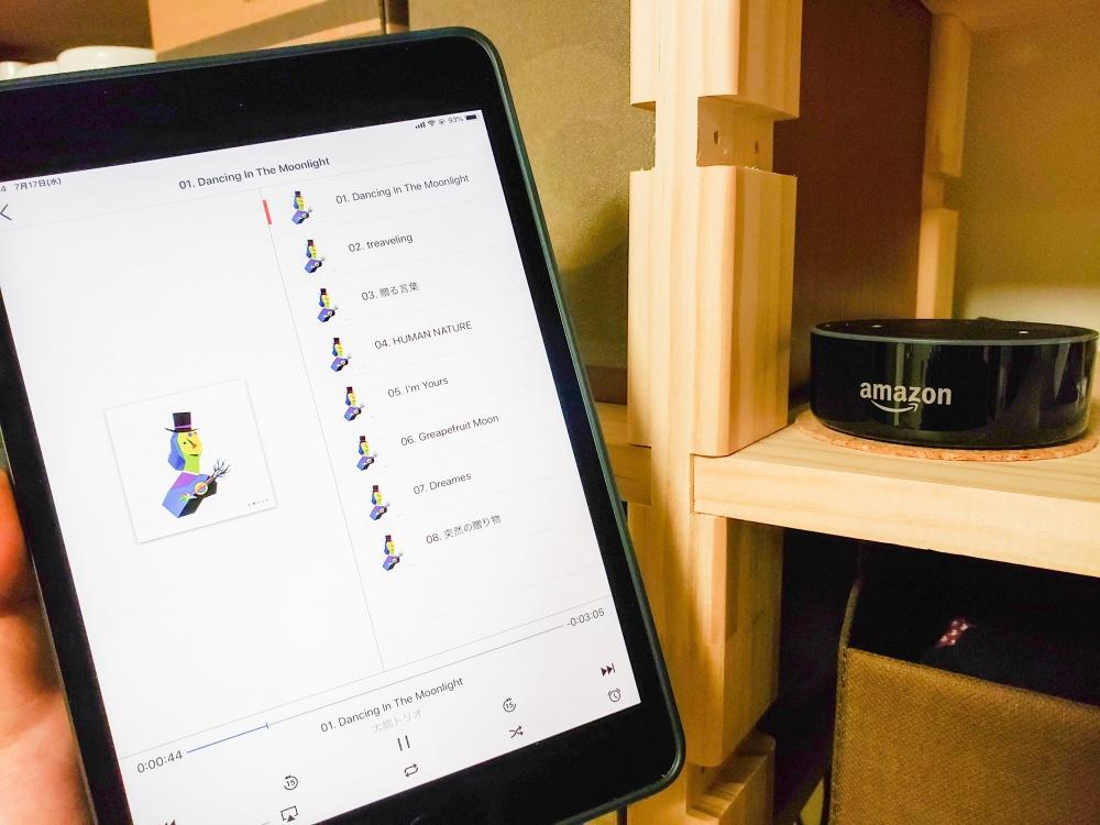 Echo Dot で iPad mini の音楽を聴く