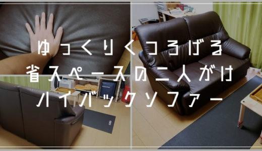 狭い部屋でも置ける省スペース二人掛けのハイバックソファーを買いました!