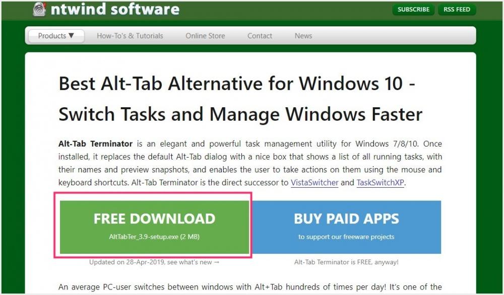Alt + Tab ウィンドウの切り替えを更に使いやすく便利にしてくれるフリーソフト「Alt-Tab Terminator」