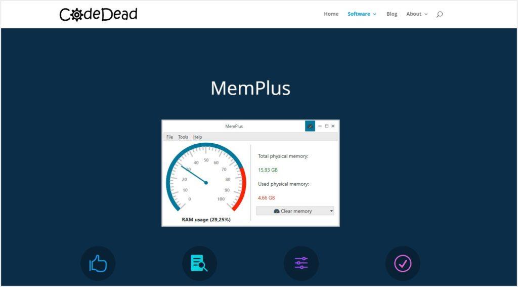 Windows 10 のメモリを解放できるフリーソフト MemPlus