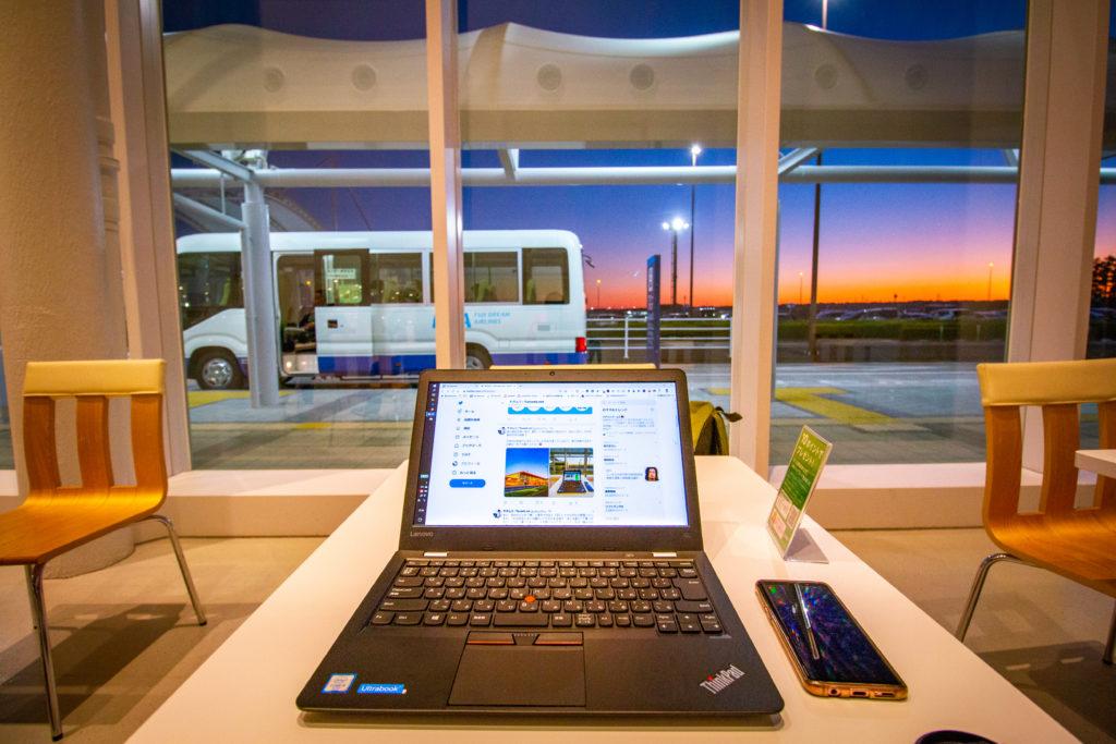 ThinkPad と富士山静岡空港