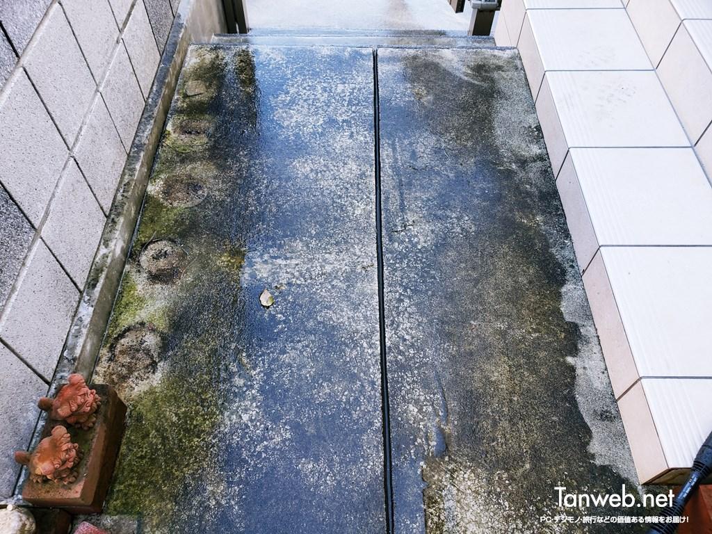 高圧洗浄掃除前の玄関先