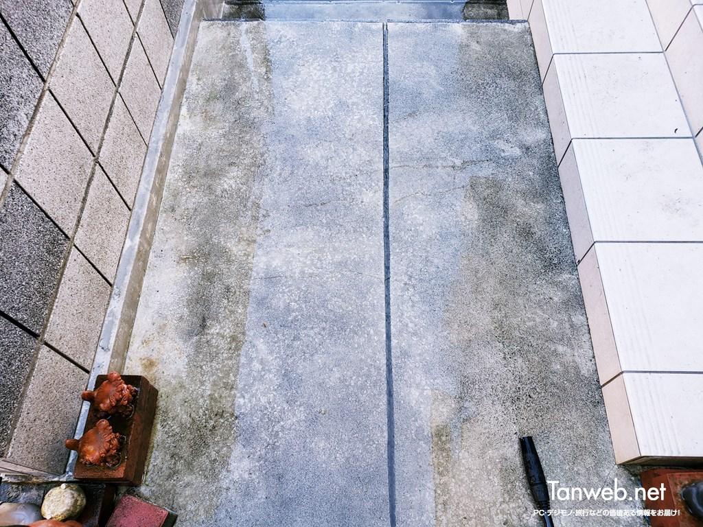 高圧洗浄掃除後の玄関先