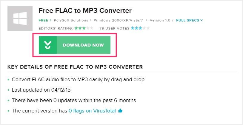 Free FLAC to MP3 Converter のダウンロード