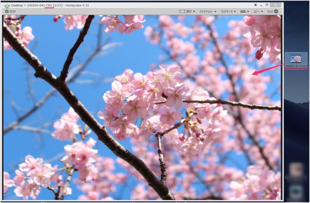 Honeyview は PSD の他 RAW や TIFF なども表示できる01