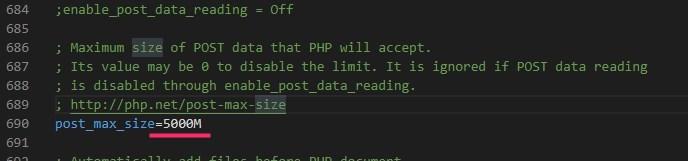 XAMPP ファイルのアップロードサイズを変更する手順06