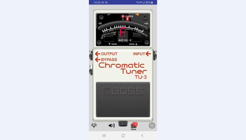 楽器をチューニングアプリ「Tuner」