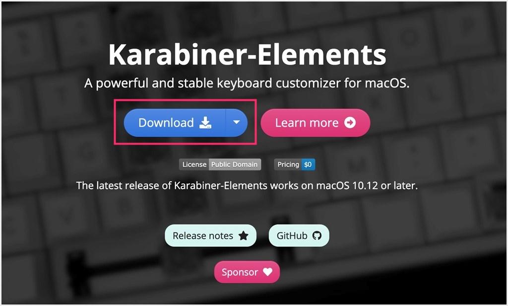 Karabiner-Elements 公式サイト