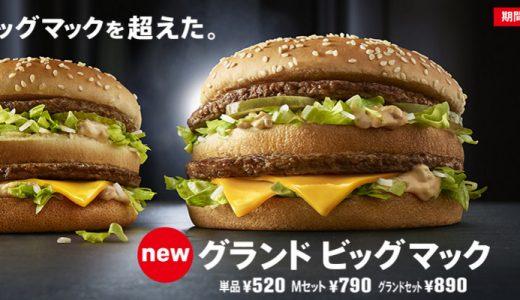 グランドビッグマックを食べてみたのでその感想述べます!!