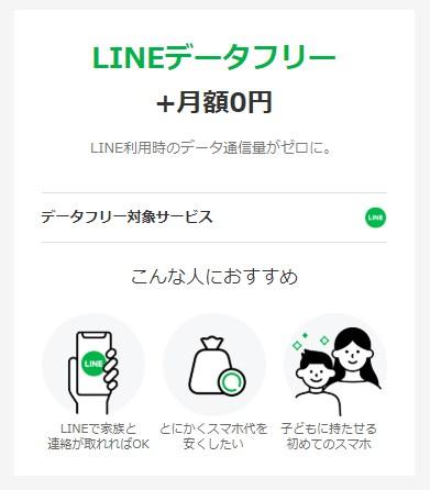 LINE データフリー