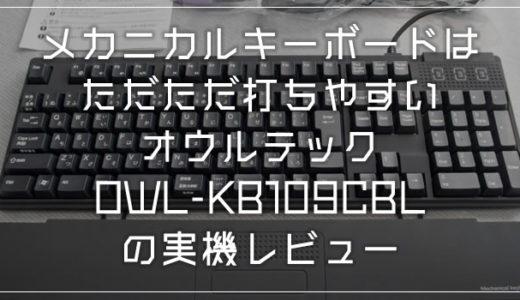 打ちやすいおすすめキーボード「オウルテックOWL-KB109CBL」実際に使ってみた感想(入力動画もあるよ)