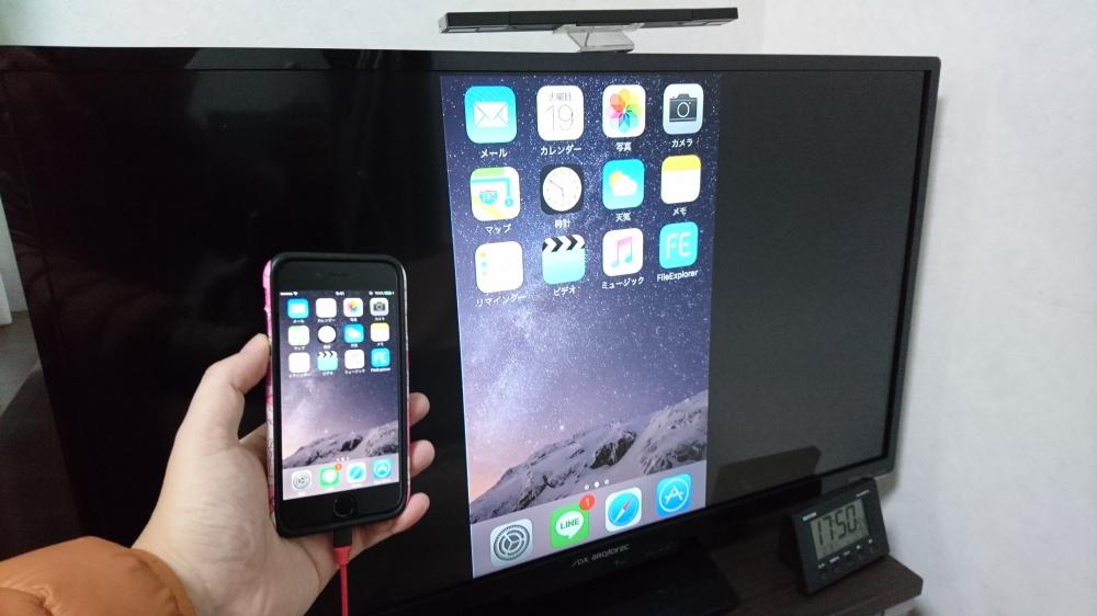 iPhoneをテレビへミラーリング表示