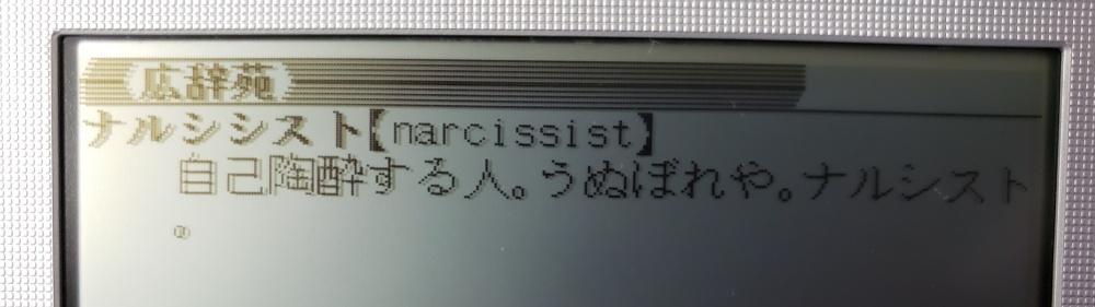 間違えやすいカタカナ語「ナルシシスト」