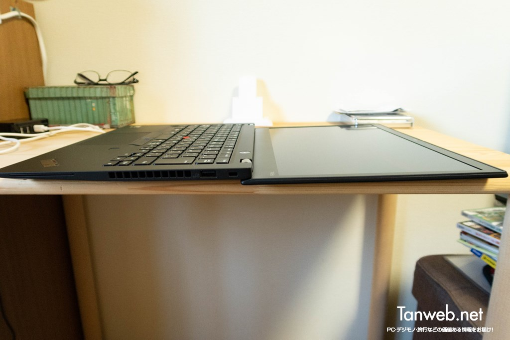 ThinkPad は画面を180度倒せるのが魅力
