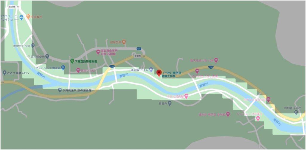 青野川河津桜並木の範囲