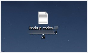Google 2段階認証用のバックアップコード作成手順07