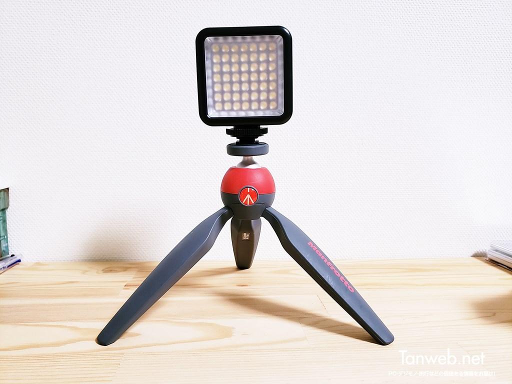 小型ビデオライト用のミニ三脚
