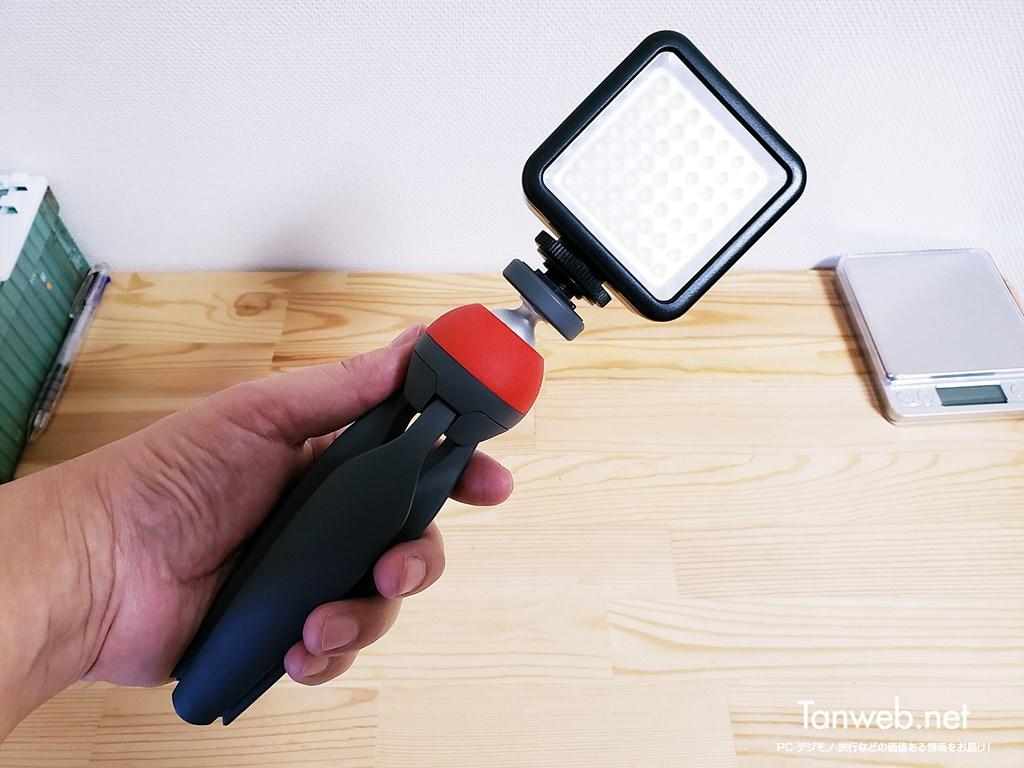 三脚装着できる小型ビデオライト01