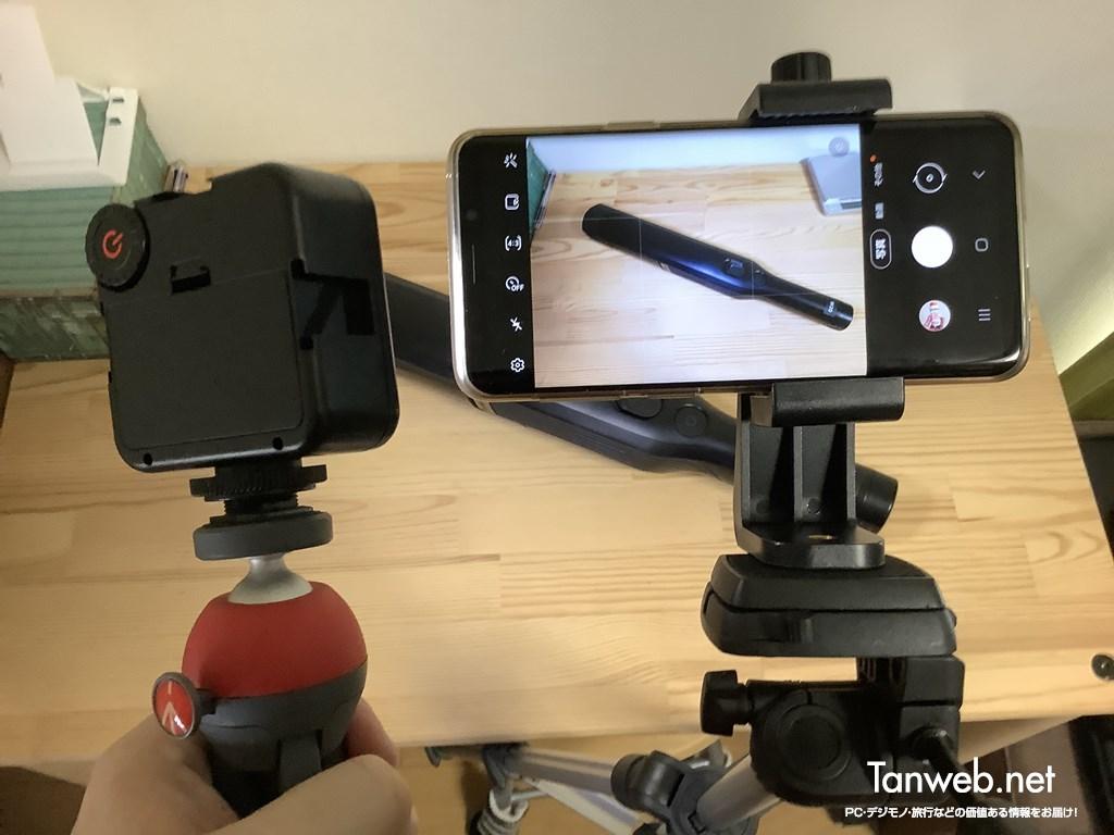 三脚装着できる小型ビデオライト03