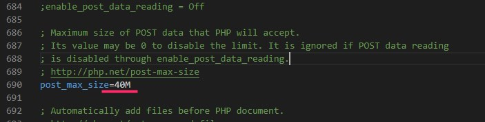 XAMPP ファイルのアップロードサイズを変更する手順05