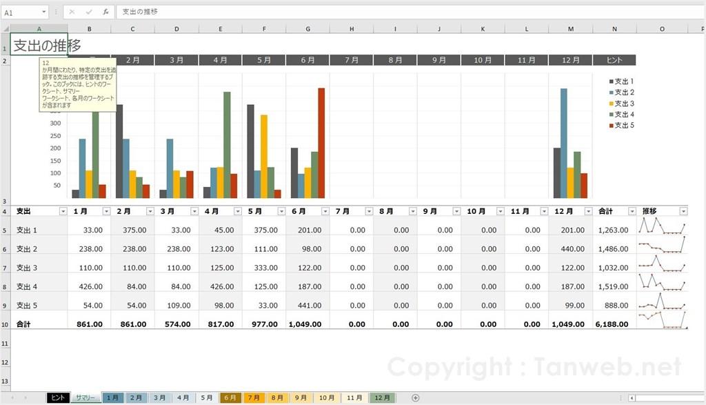 純正 Excel - グラフ