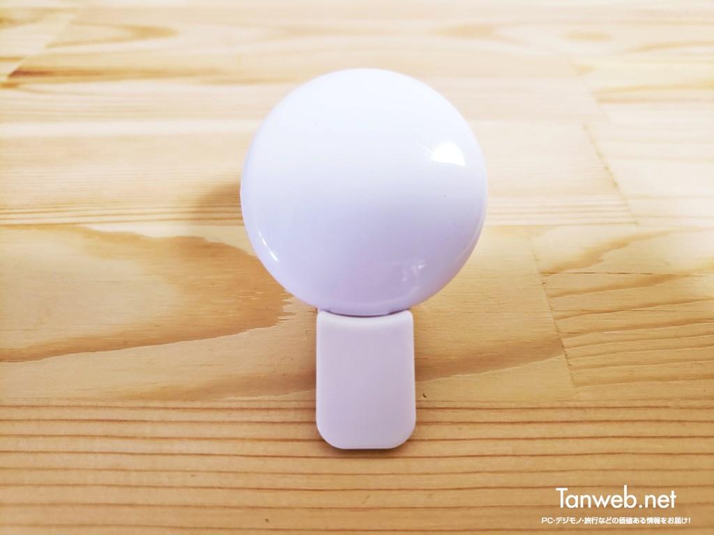 キャンドゥ産「9 LED 自撮りライトクリップ式」01