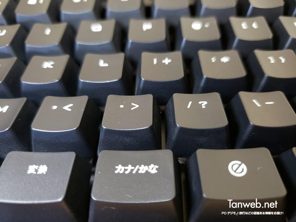 エレコムメカニカルキーボード「TK-G01UKBK」- キーピッチとストローク