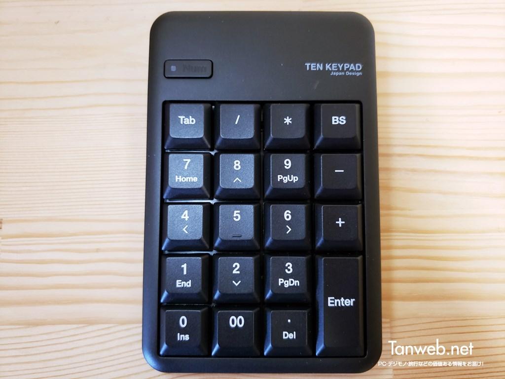 エレコム製ワイヤレステンキー「TK-TDM017BK」