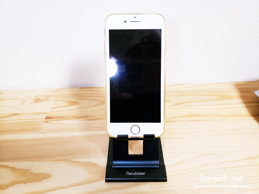 Reodoeer 超薄型 スマホスタンド iPhone縦向き