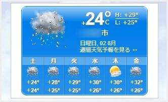 実際にWordPress サイトに実装した Booked.jp 天気予報ウィジェット