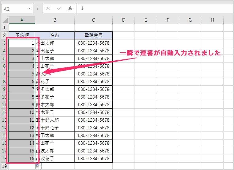 Excel オートフィルの使い方06