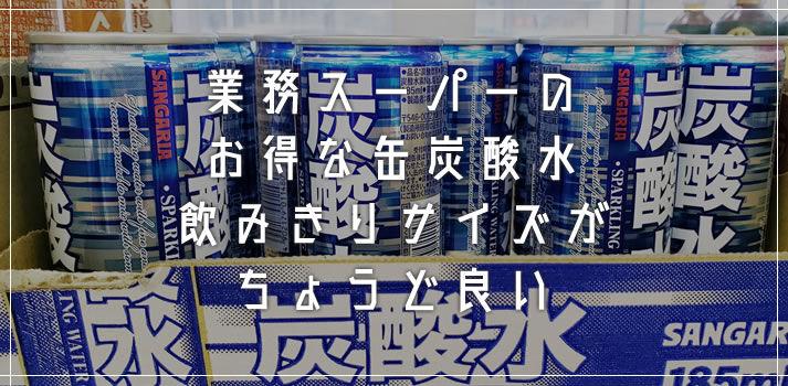 暑い夏に最適!業務スーパー1缶25円の飲みきりサイズ炭酸水が超お買い得です
