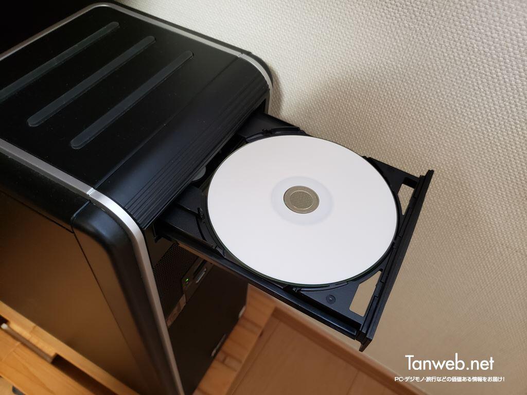 パソコンへディスクを挿入