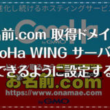 お名前.com取得ドメインをConoHa WING(コノハウィング)で利用設定する手順