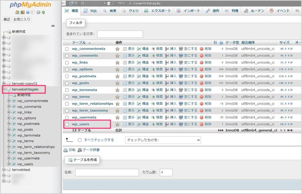 WordPress のユーザー名とパスワードを確認する手順02