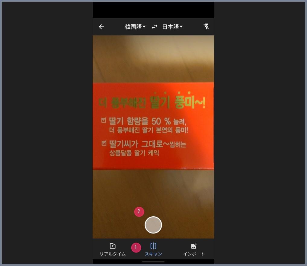 外国語翻訳ができる Google 翻訳の「カメラ入力」機能の使い方02