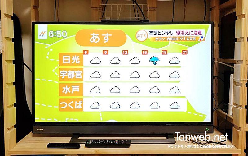 あえて 4K ではないテレビを購入「REGZA 40V31」