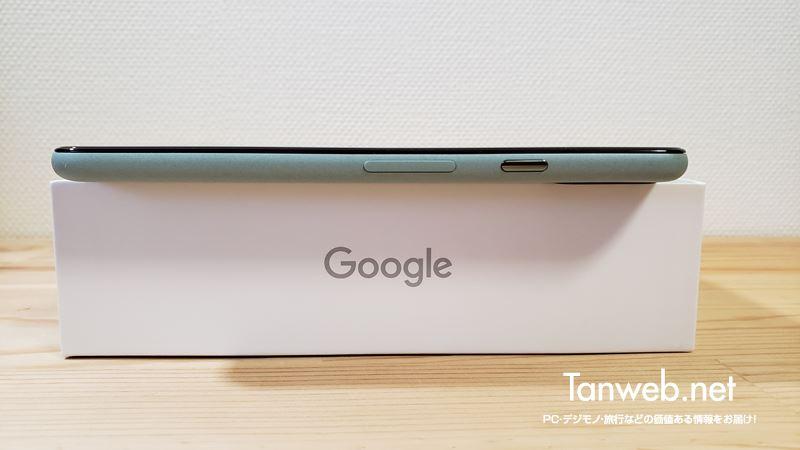 Google Pixel 5 右側面