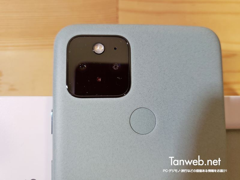 Google Pixel 5 カメラと指紋認証ボタン