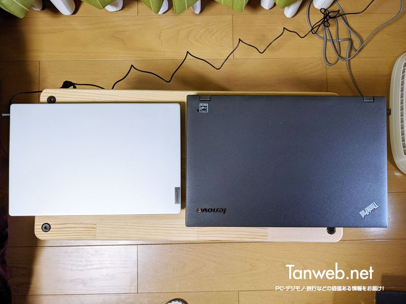 Lenovo IdeaPad Slim と ThinkPad 15.6 と比較