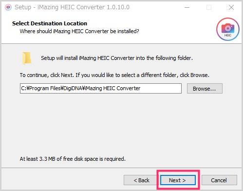 iMazing HEIC Converter のインストール手順03